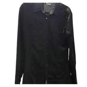 Authentic Versace Jean Couture Black Silk Shirt